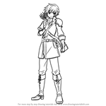 How to Draw Gordin from Fire Emblem