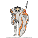 How to Draw Kellam from Fire Emblem