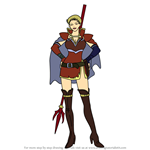How to Draw Vaida from Fire Emblem