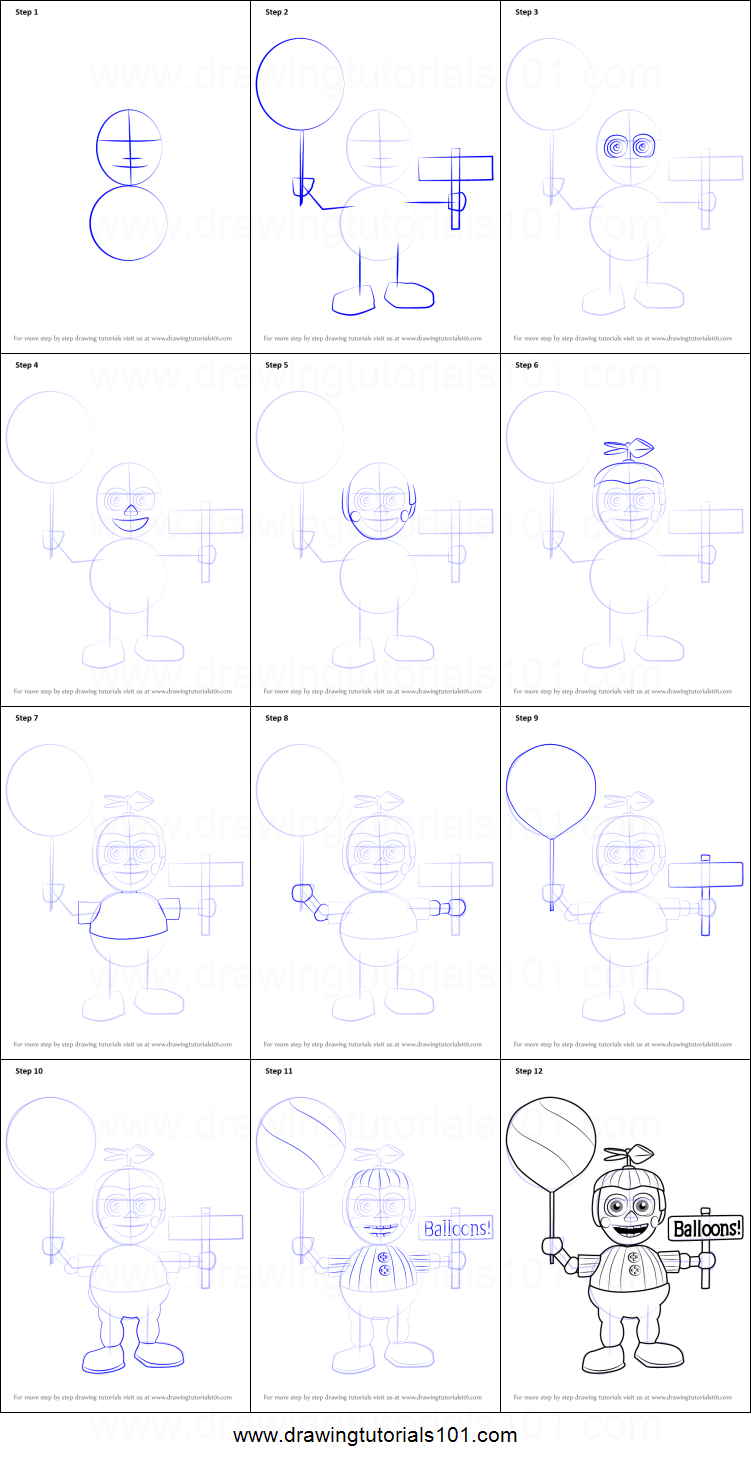 Uncategorized Draw A Balloon how to draw balloon boy from five nights at freddys printable step by drawing sheet drawingtutorials101 com