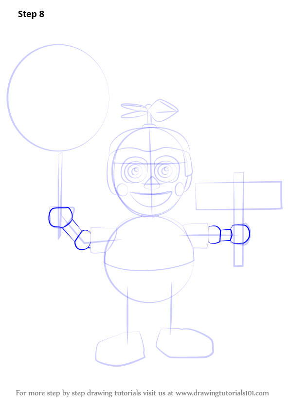 how to draw a balloons step by step