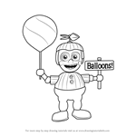 How to Draw Balloon boy from Five Nights at Freddy's