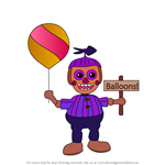 How to Draw Balloon Girl JJ from Five Nights at Freddy's