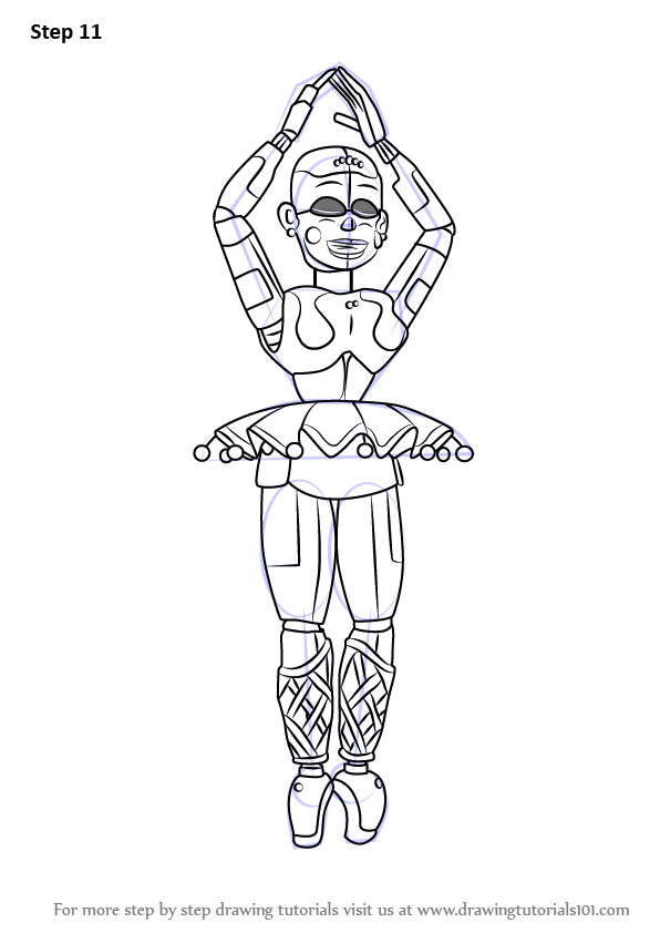 Coloring pages f naf sl coloring pages f naf foxy coloring pages - Learn How To Draw Ballora From Five Nights At Freddy S
