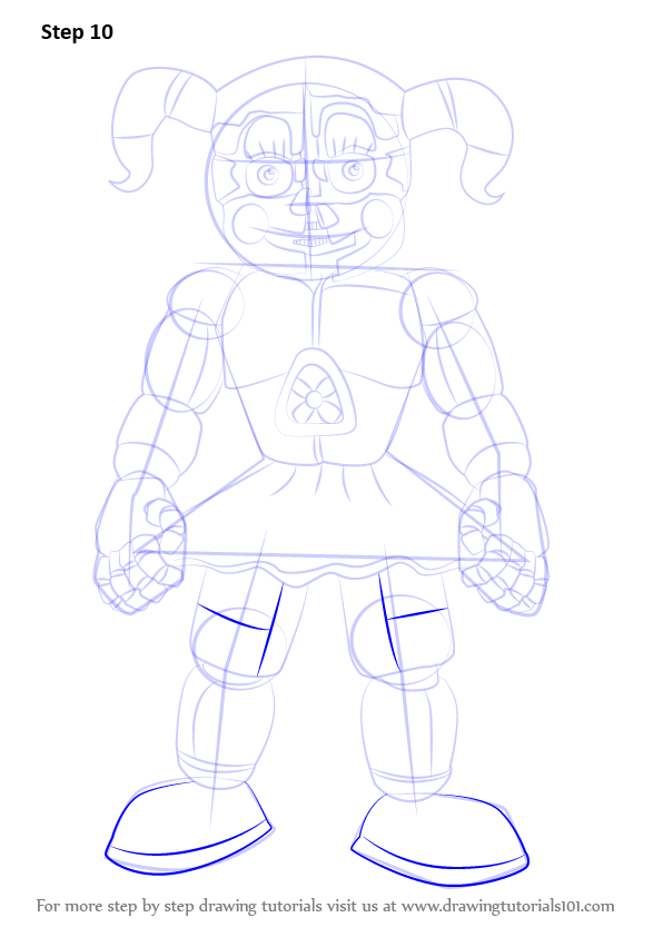 Step by Step How to Draw Circus Baby from Five Nights at ...