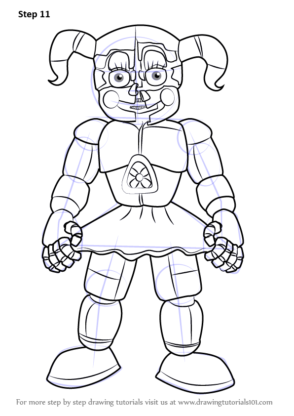 Learn How to Draw Circus Baby from Five Nights at Freddy 39 s