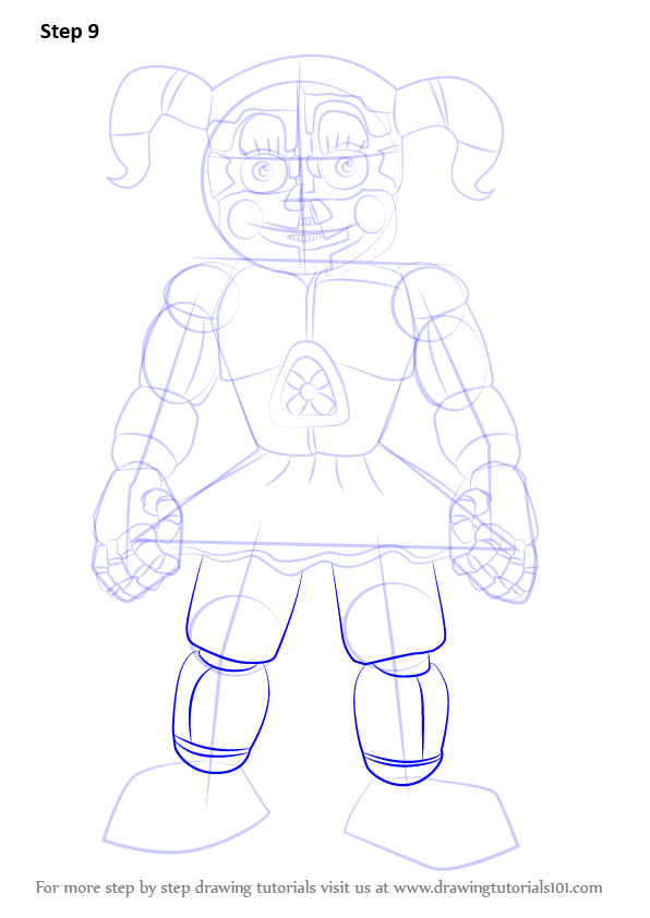 Learn How To Draw Circus Baby From Five Nights At Freddy S