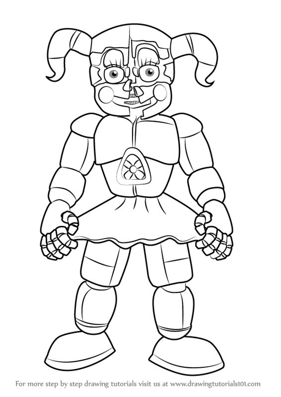 Learn How to Draw Circus Baby from