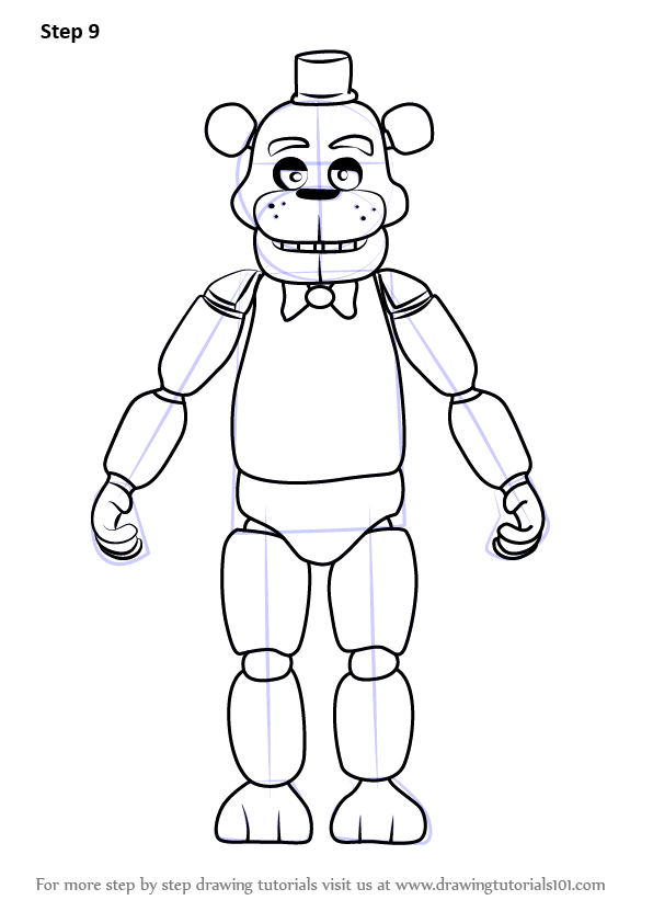 Learn How to Draw Freddy Fazbear
