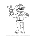 How to Draw Funtime Freddy from Five Nights at Freddy's