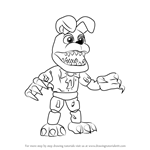 How to Draw Nightmare Bonnie from Five Nights at Freddy's