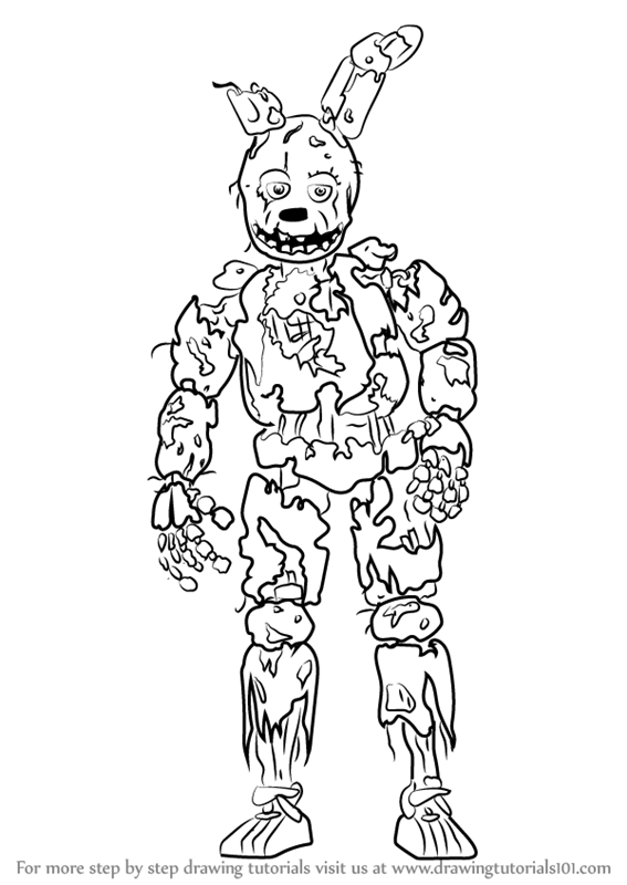 5 Nights At Freddys Spring Trap Coloring Pages Coloring Pages