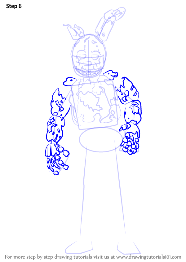 learn how to draw springtrap from five nights at freddys