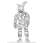 How to Draw Springtrap from Five Nights at Freddy's