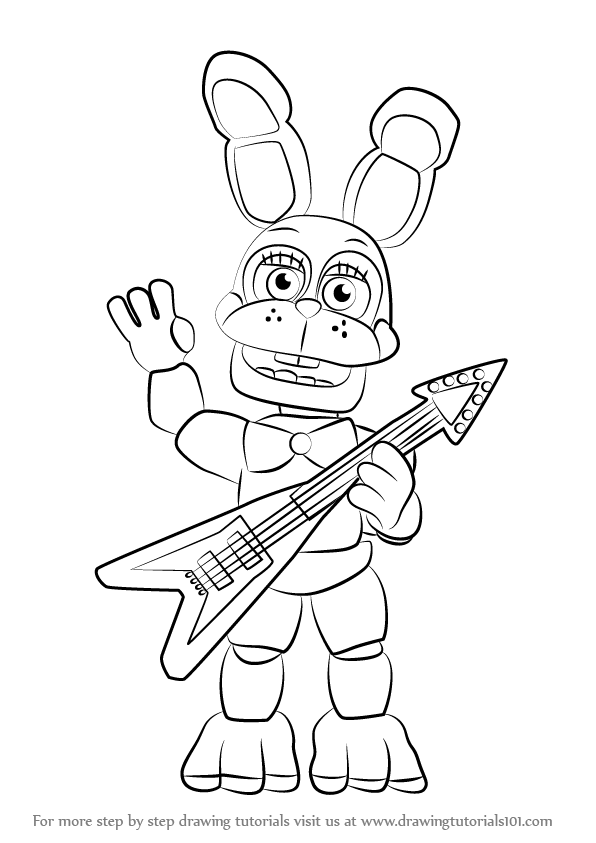 Toy Bonnie Cartoon Coloring Pages