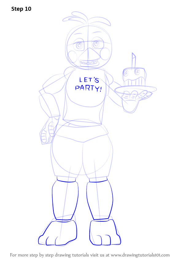 Learn How To Draw Toy Chica From Five Nights At Freddy S
