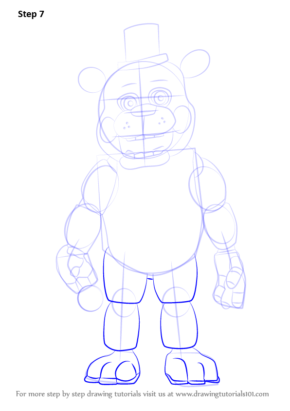 Learn How to Draw Toy Freddy Fazbear from Five Nights at