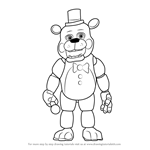 How to Draw Toy Freddy Fazbear from Five Nights at Freddy's