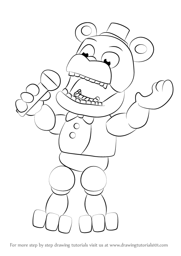 How to draw withered freddy from five nights at freddy s five nights