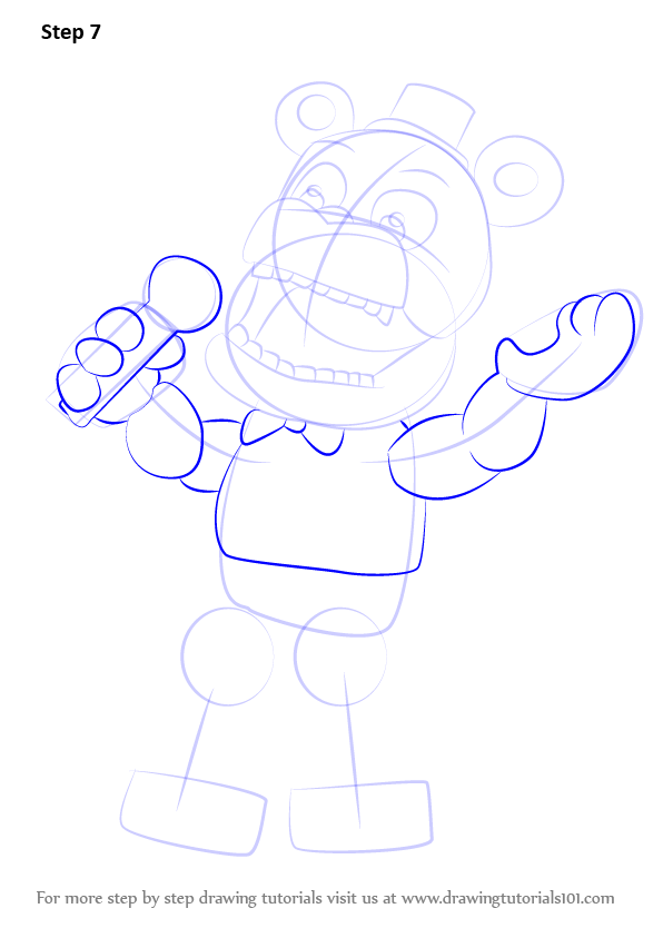 Learn How To Draw Withered Freddy From Five Nights At