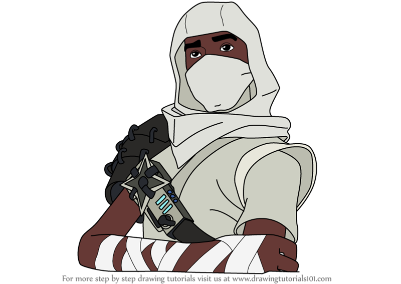Learn How To Draw Assassin Ken From Fortnite Fortnite Step By Step