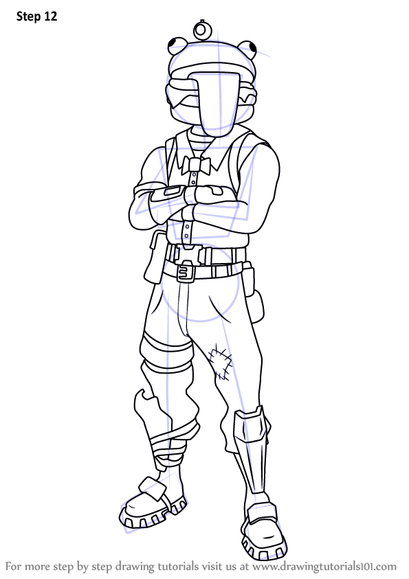 Learn How to Draw Beef Boss from Fortnite Fortnite Step