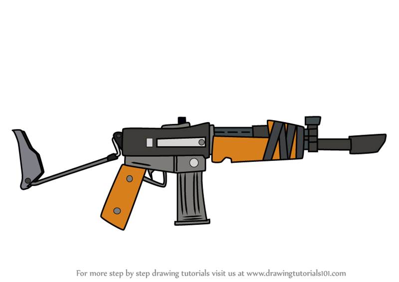 Learn How To Draw Burst Assault Rifle From Fortnite Fortnite Step