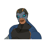 How to Draw Cobalt Commando Carbide from Fortnite