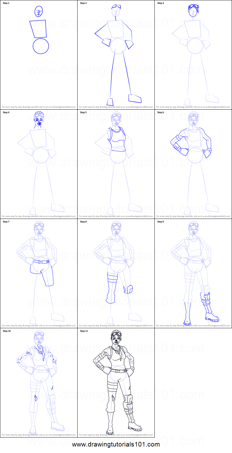 How to Draw Ghoul Trooper from Fortnite printable step by