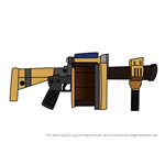 How to Draw Grenade Launcher from Fortnite