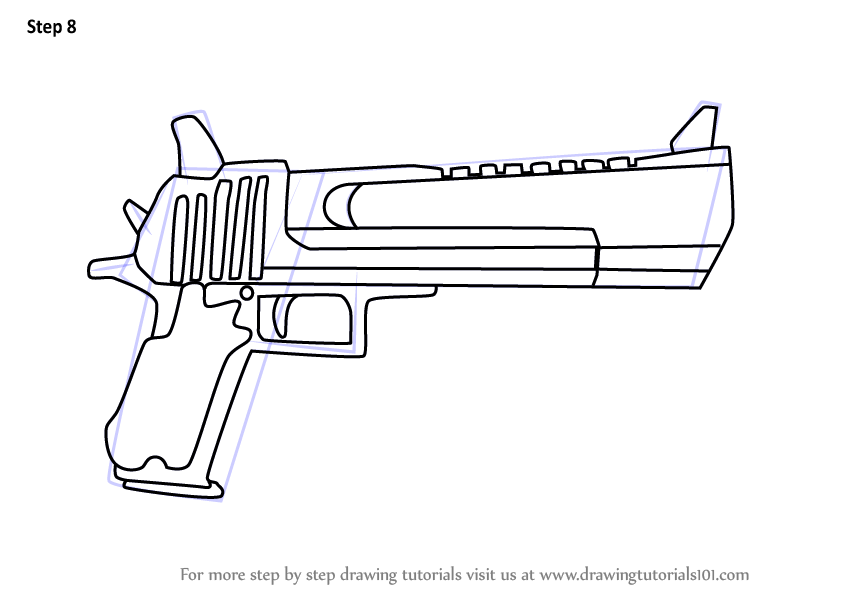 Learn How to Draw Hand Cannon from Fortnite (Fortnite ...