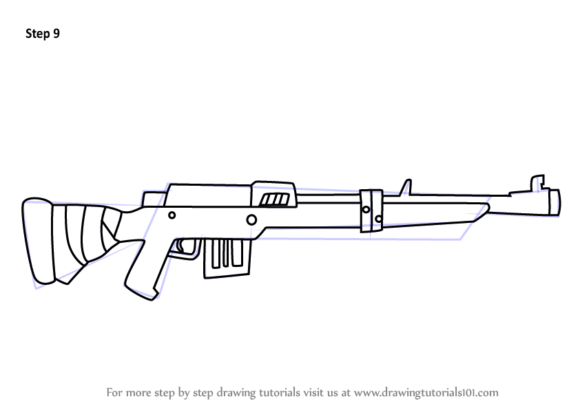 Learn How To Draw Hunting Rifle From Fortnite Fortnite