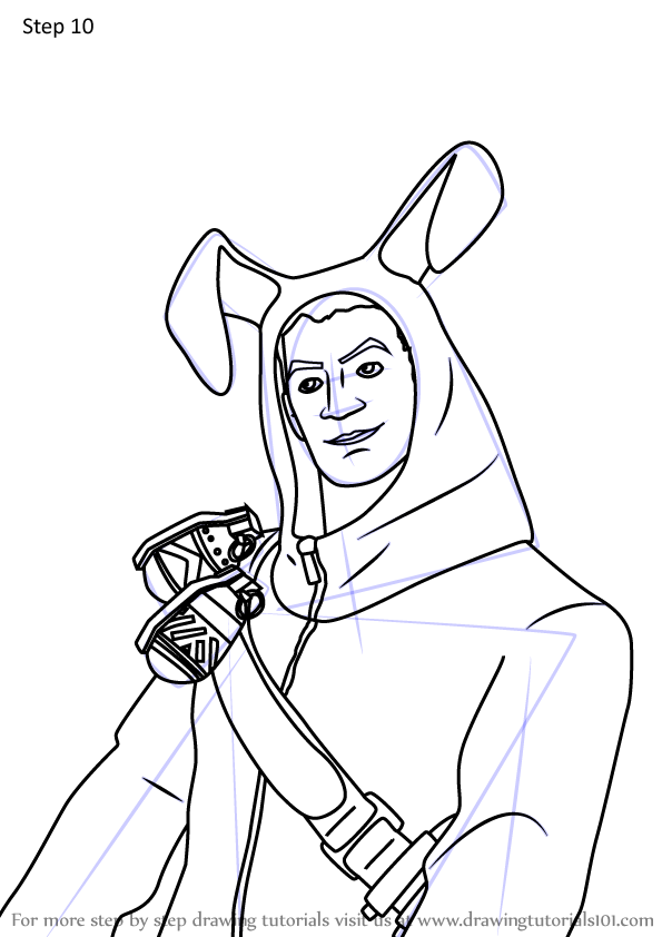 Learn How To Draw Rabbit Raider Jonesy From Fortnite