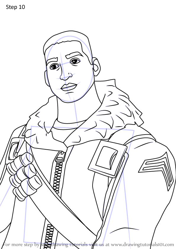 Learn How To Draw Raider Nomad From Fortnite Fortnite