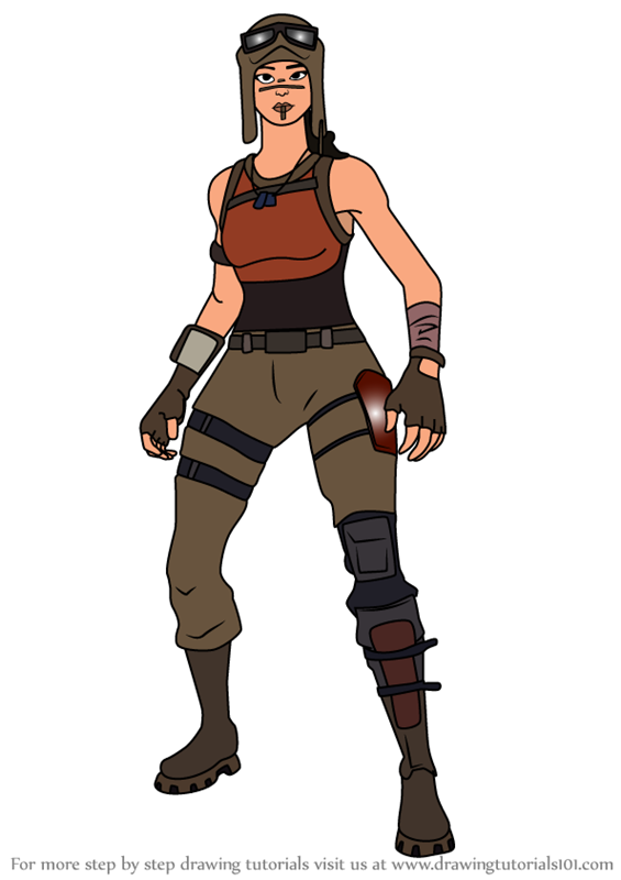 Step By Step How To Draw Renegade Raider From Fortnite