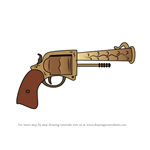 How to Draw Revolver from Fortnite