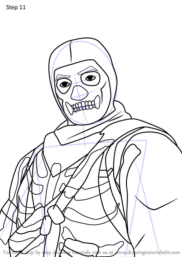 Learn How To Draw Skull Trooper Jonesy From Fortnite