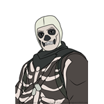 How to Draw Skull Trooper Jonesy from Fortnite