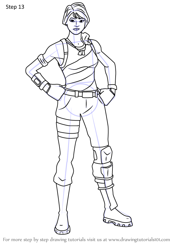 Learn How To Draw Star Spangled Ranger From Fortnite