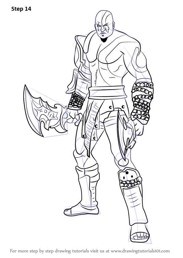 Learn How to Draw Kratos from God of War (God of War) Step ...