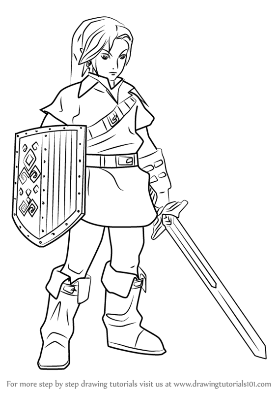 Learn How to Draw Link from Hyrule