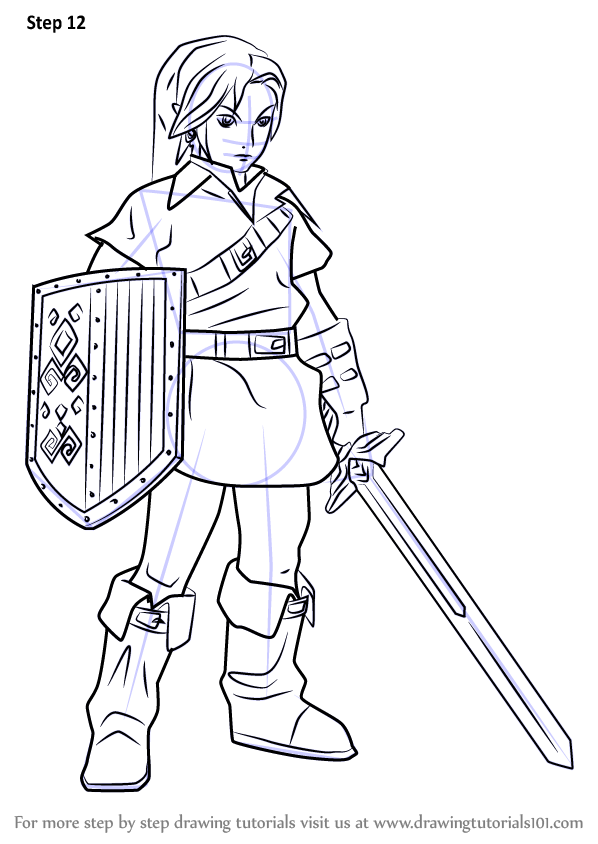 Learn How To Draw Link From Hyrule Warriors Hyrule