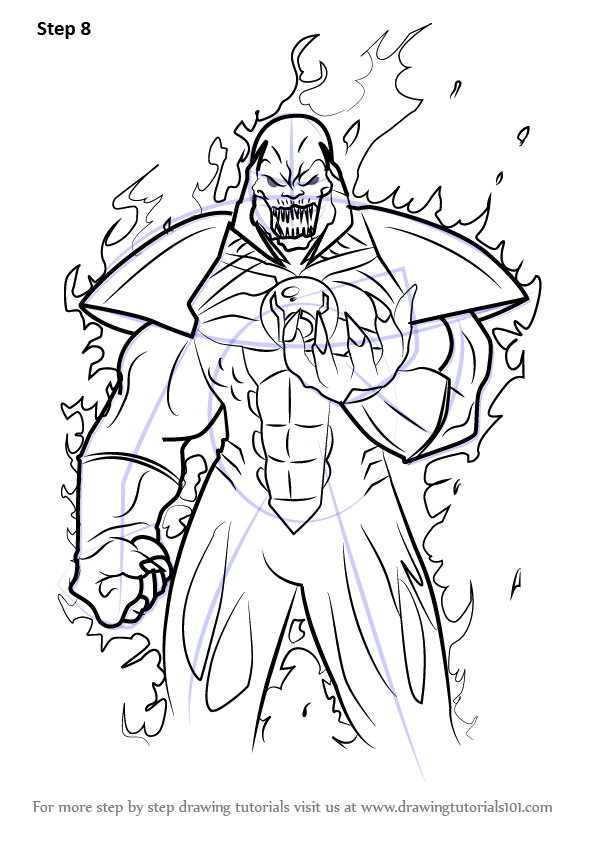 Learn How To Draw Atrocitus From Injustice Gods Among Us