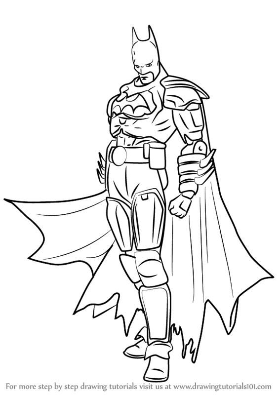Learn How to Draw Batman from Injustice - Gods Among Us (Injustice ...