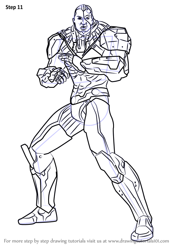 Learn How To Draw Cyborg From Injustice Gods Among Us