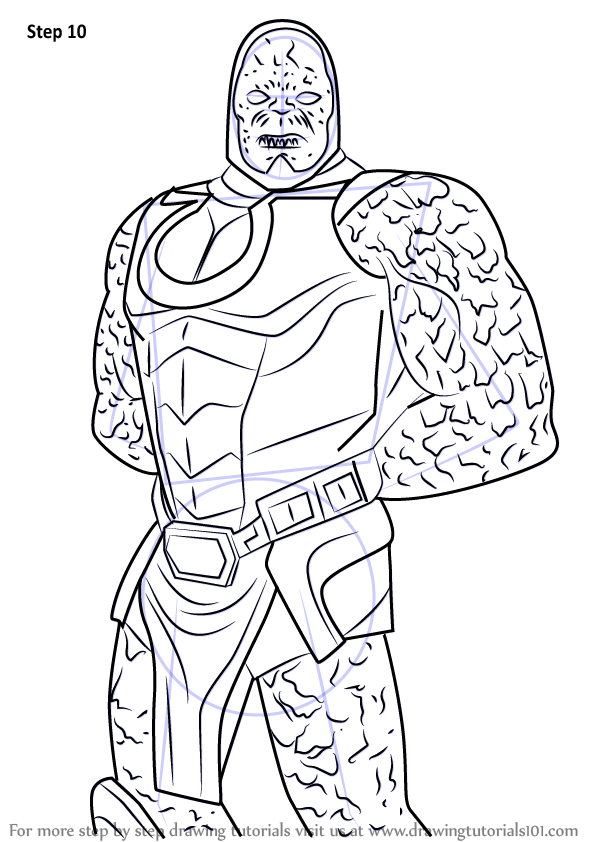 Learn How To Draw Darkseid From Injustice Gods Among Us
