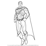 How to Draw Superman from Injustice - Gods Among Us