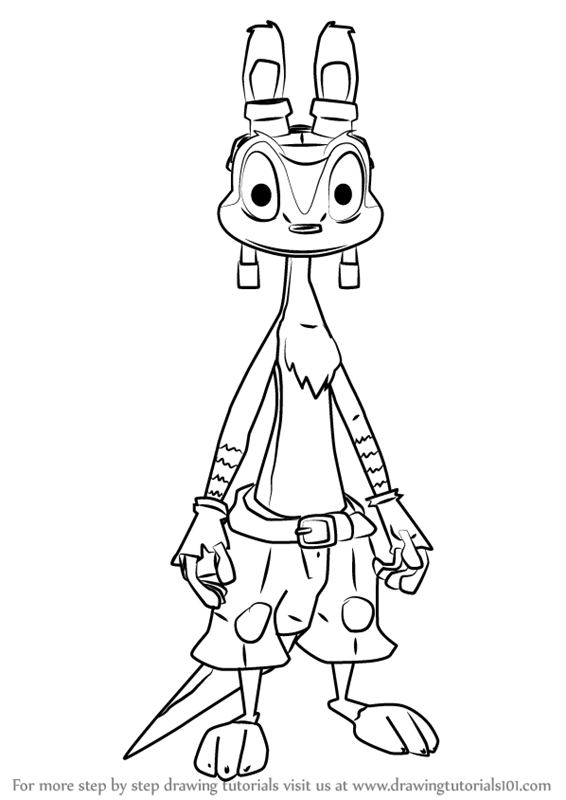 jak and daxter coloring pages - learn how to draw daxter from jak and daxter jak and