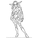 How to Draw Maia Acheron from Jak and Daxter