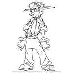 How to Draw Vin from Jak and Daxter